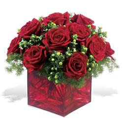 Bitlis çiçek yolla  9 adet kirmizi gül cam yada mika vazoda