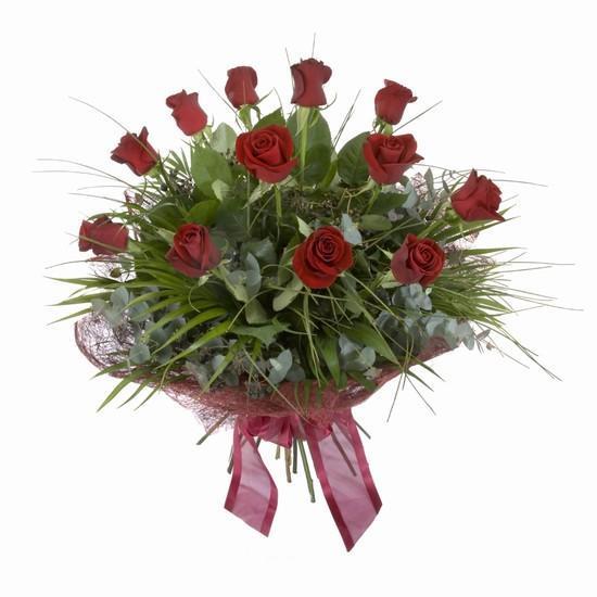 Etkileyici buket 11 adet kirmizi gül buketi  Bitlis internetten çiçek satışı