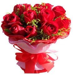 9 adet kirmizi güllerden kipkirmizi buket  Bitlis çiçekçiler
