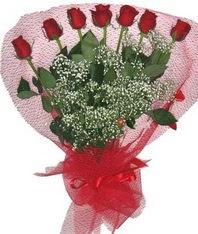 7 adet kipkirmizi gülden görsel buket  Bitlis çiçek mağazası , çiçekçi adresleri
