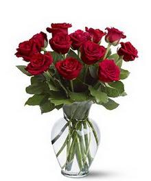 Bitlis çiçek gönderme sitemiz güvenlidir  cam yada mika vazoda 10 kirmizi gül