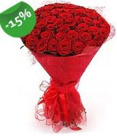 51 adet kırmızı gül buketi özel hissedenlere  Bitlis çiçek siparişi sitesi