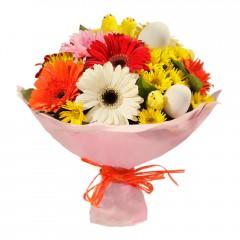 Karışık mevsim buketi Mevsimsel çiçek  Bitlis internetten çiçek siparişi
