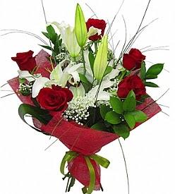 1 dal kazablanka 5 kırmızı gül buketi  Bitlis kaliteli taze ve ucuz çiçekler