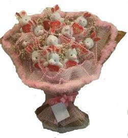 12 adet tavşan buketi  Bitlis çiçek mağazası , çiçekçi adresleri