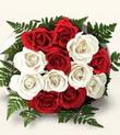Bitlis çiçek , çiçekçi , çiçekçilik  10 adet kirmizi beyaz güller - anneler günü için ideal seçimdir -