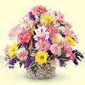 Bitlis uluslararası çiçek gönderme  sepet içerisinde gül ve mevsim