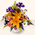 Bitlis 14 şubat sevgililer günü çiçek  sepet içinde karisik çiçekler