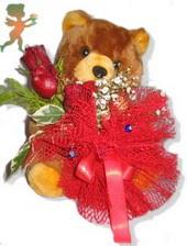 oyuncak ayi ve gül tanzim  Bitlis çiçekçiler