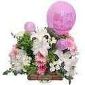 balon ve çiçeklerle tanzim  Bitlis internetten çiçek satışı