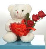 3 adetgül ve oyuncak   Bitlis online çiçekçi , çiçek siparişi