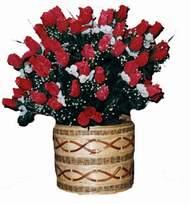 yapay kirmizi güller sepeti   Bitlis kaliteli taze ve ucuz çiçekler