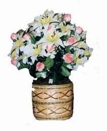 yapay karisik çiçek sepeti   Bitlis çiçek servisi , çiçekçi adresleri