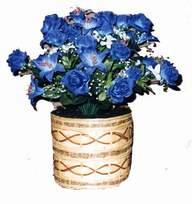 yapay mavi çiçek sepeti  Bitlis cicekciler , cicek siparisi
