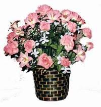 yapay karisik çiçek sepeti  Bitlis çiçek online çiçek siparişi