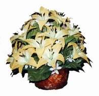 yapay karisik çiçek sepeti   Bitlis çiçek siparişi sitesi