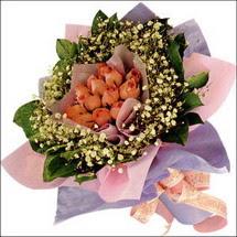 11  adet  gül ve   elyaflar   Bitlis çiçekçi mağazası