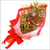12 adet renkli  gül buketi   Bitlis çiçekçi mağazası