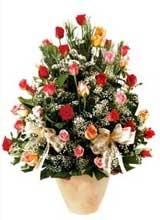 91 adet renkli gül aranjman   Bitlis çiçek gönderme sitemiz güvenlidir