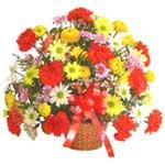 karisik renkli çiçek sepet   Bitlis çiçek gönderme sitemiz güvenlidir