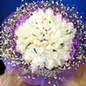 71 adet beyaz gül buketi   Bitlis çiçek , çiçekçi , çiçekçilik