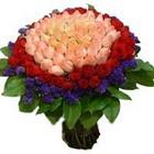 71 adet renkli gül buketi   Bitlis ucuz çiçek gönder