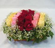 15 adet reprenkli gül sepeti   Bitlis çiçek yolla