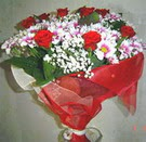 12 gül ve kir çiçeklerinden  Bitlis çiçek yolla