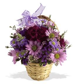 Bitlis uluslararası çiçek gönderme  sepet içerisinde krizantem çiçekleri