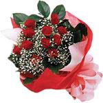 Bitlis internetten çiçek satışı  KIRMIZI AMBALAJ BUKETINDE 12 ADET GÜL