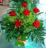6 adet kirmizi gül buketi   Bitlis online çiçek gönderme sipariş