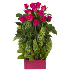 12 adet kirmizi gül aranjmani  Bitlis çiçek mağazası , çiçekçi adresleri