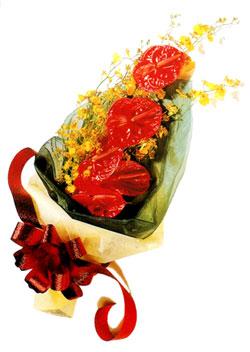 özel 5 adet antorium buketi   Bitlis çiçek gönderme sitemiz güvenlidir