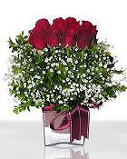 Bitlis çiçek , çiçekçi , çiçekçilik  11 adet gül mika yada cam - anneler günü seçimi -