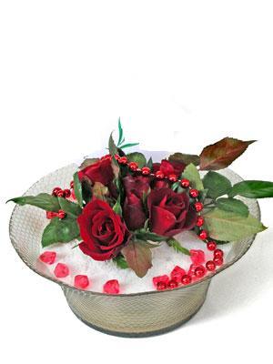 Bitlis çiçek siparişi vermek  EN ÇOK Sevenlere 7 adet kirmizi gül mika yada cam tanzim