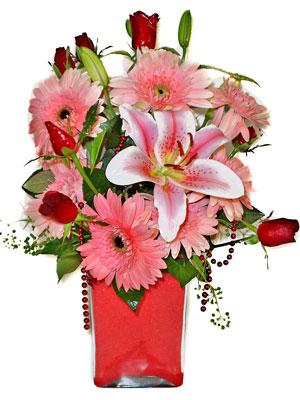 Bitlis cicek , cicekci  karisik cam yada mika vazoda mevsim çiçekleri mevsim demeti