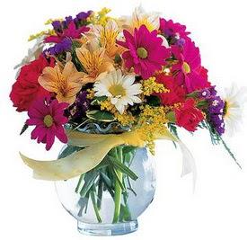 Bitlis internetten çiçek satışı  cam yada mika içerisinde karisik mevsim çiçekleri