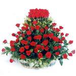 Bitlis kaliteli taze ve ucuz çiçekler  41 adet kirmizi gülden sepet tanzimi