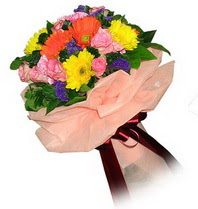 Bitlis çiçekçi mağazası  Karisik mevsim çiçeklerinden demet