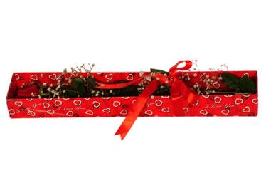Bitlis çiçekçi telefonları  kutu içerisinde 1 adet kirmizi gül