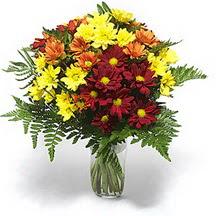 Bitlis çiçek siparişi sitesi  Karisik çiçeklerden mevsim vazosu