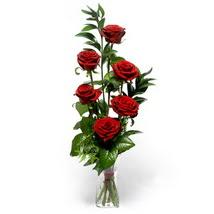 Bitlis çiçek siparişi sitesi  cam yada mika vazo içerisinde 6 adet kirmizi gül
