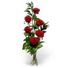 Bitlis uluslararası çiçek gönderme  mika yada cam vazoda 6 adet essiz gül