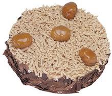 Kestahaneli yas pasta 4 ile 6 kisilik pasta  Bitlis çiçek siparişi sitesi