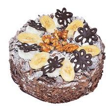 Muzlu çikolatali yas pasta 4 ile 6 kisilik   Bitlis uluslararası çiçek gönderme