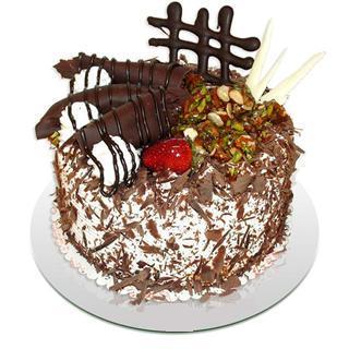 4 ile 6 kisilik çikolatali yas pasta  Bitlis kaliteli taze ve ucuz çiçekler