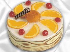 lezzetli pasta satisi 4 ile 6 kisilik yas pasta portakalli pasta  Bitlis çiçekçi mağazası