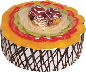 pasta siparisi 4 ile 6 kisilik meyvali yas pasta  Bitlis çiçek satışı