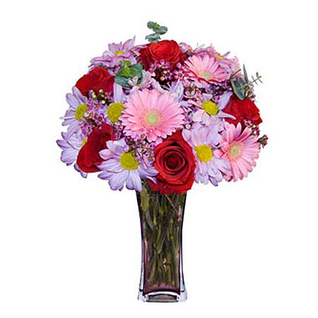 Görsel hediye karisik cam mevsim demeti  Bitlis çiçekçi mağazası