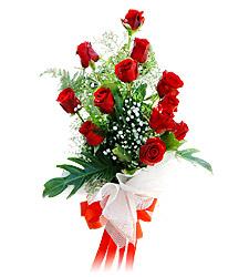 11 adet kirmizi güllerden görsel sölen buket  Bitlis çiçek siparişi vermek